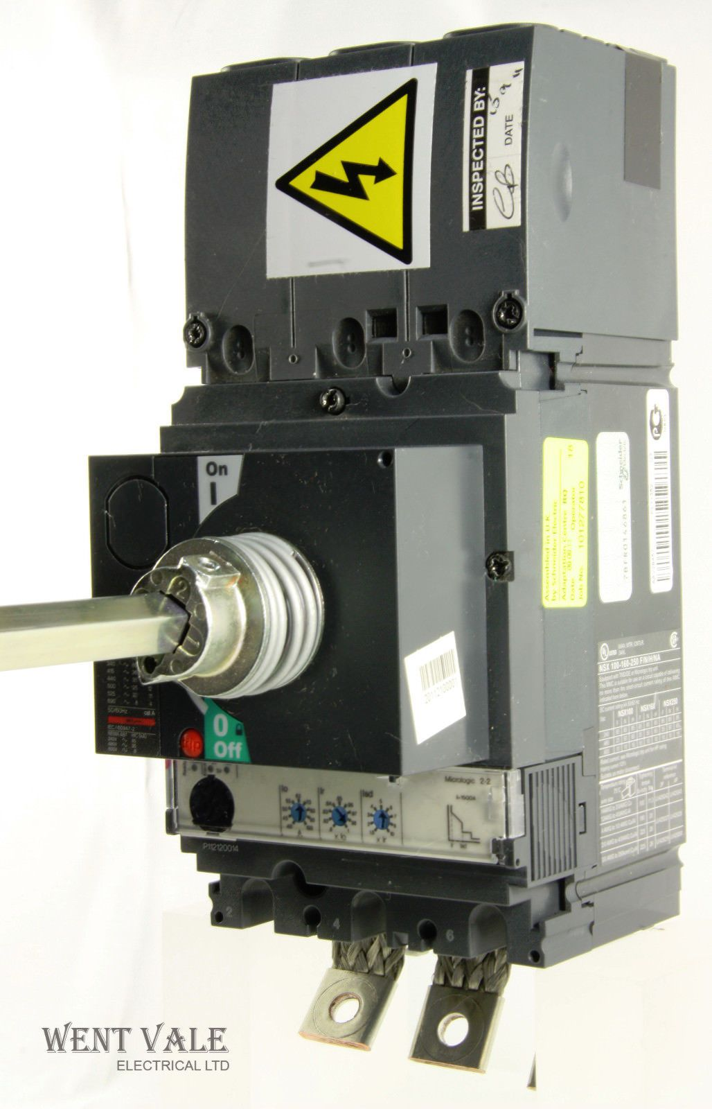 Schneider Compact Nsx100f 100a Mccb Extended Rotary Handle And Micologic 2 2 A